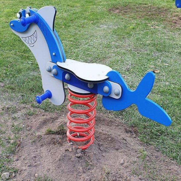 bujak rekin ,bujak na plac zabaw, sprężynowiec rekin ,bujaki, bujak na plac zabaw