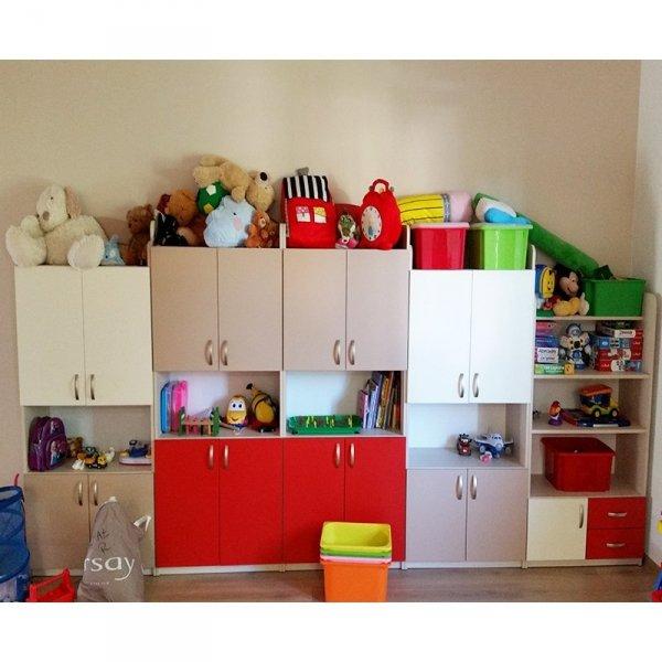 zestaw mebli przedszkolnych,zestaw szafek przedszkolnych,zestaw regałów przedszkolnych