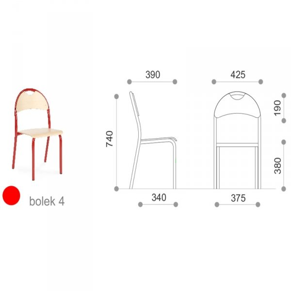 krzesło szkolne bolek, krzesło szkolne, krzesło do szkoły, krzesło bolek, bolek krzesło szkolne