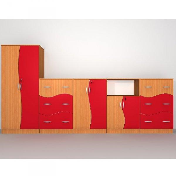 Zestaw szafek szkolnych Nr 2, zestaw szafek szkolnych, zestaw meble szkolnych, zestaw szafek fala