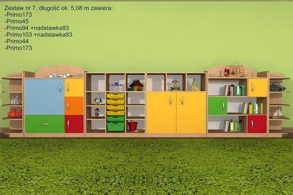 Zestaw mebli przedszkolnych, primo 7,primo nr 7,zestaw primo,zestaw mebli primo