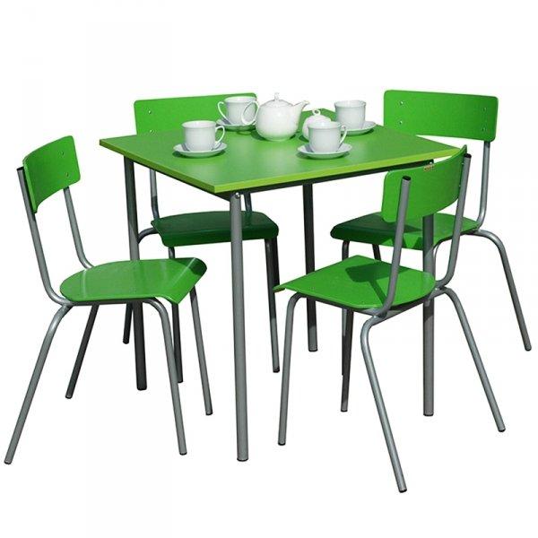 zestaw stołówkowy nr 1, meble na stołówkę, stół na stołówkę, krzesło na stołówkę, komplet na stołówkę