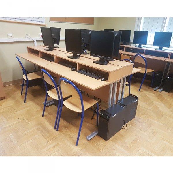 biurko komputerowe 2-osobowe,biurko do pracowni komputerowej,biurko do sali komputerowej