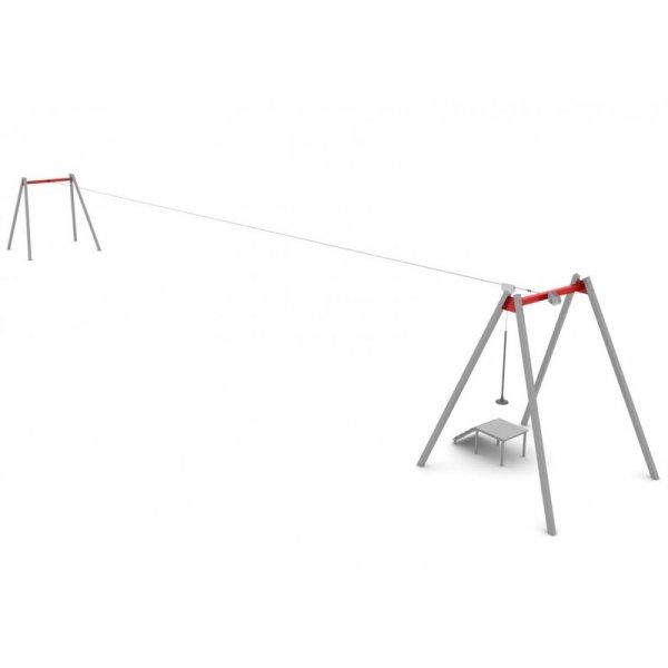 zjazd linowy z siedziskiem, piramida z liny zbrojnej 3,5, mlinarium perry, linarium firry, liniarium, piramida, place zabaw, na plac zabaw, wyposażenie placu zabaw