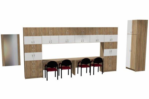 zestaw szafek do pokoju nauczycielskiego nr 3, pokój nauczycielski, meble do pokoju nauczycielskiego, zestaw szafek do pokoju nauczycielskiego, zestaw mebli do pokoju nauczycielskiego, szafki do biura