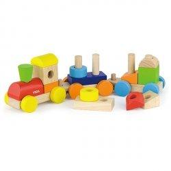 Viga 51610 Barwna kolejka z klockami
