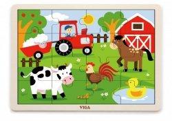 Viga 51448 Puzzle na podkładce 16 elementów - Farma
