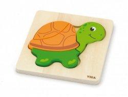 Viga 59933 Pierwsze puzzle maluszka - Żółwik