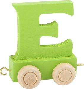 Dekoracja SMALL FOOT wagon do lokomotywy z literą E (kolor zielony)