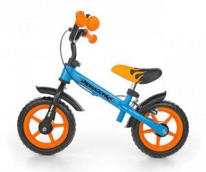 Milly Mally Rowerek biegowy Dragon z hamulcem blue-orange (0304)