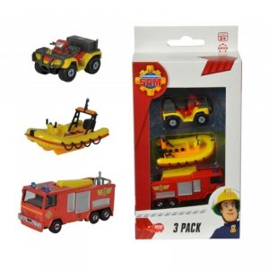DICKIE Strażak Sam Zestaw 2 pojazdów + łódź ratunkowa
