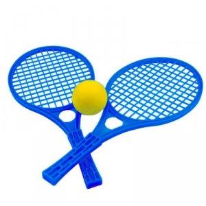Niebieskie Rakietki Dla Dzieci Zestaw Tenis MOCHTOYS