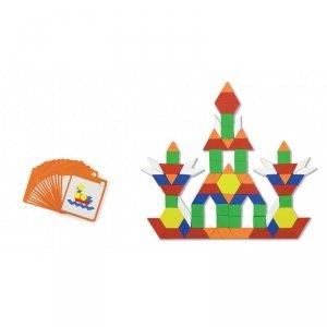 Drewniana Mozaika Geometryczna Viga Toys Układanka Logiczna Klocki 102 el