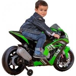 Kawasaki Motor Elektryczny Na Akumulator 12V MP3 Światło Injusa