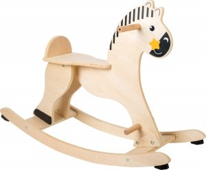 SMALL FOOT Rocking Horse with Protective Ring - drewniany konik na biegunach