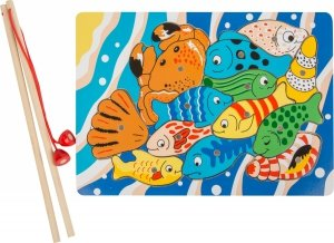SMALL FOOT Układanie puzzli wędką - puzzle rybki