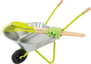 SMALL FOOT Taczka z narzędziami ogrodniczymi dla dzieci