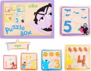SMALL FOOT SESAME STREET Puzzle Box - drewniane puzzle Ulica Sezamkowa