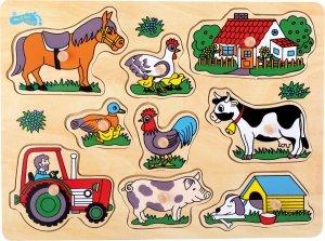 SMALL FOOT Puzzle Farming - drewniane puzzle farma