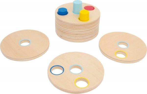 SMALL FOOT Dopasowanie Kolorów - Klocki Drewniane dla dzieci