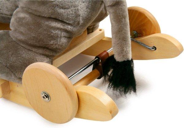 SMALL FOOT Jumbo Rocker - bujak z kółkami (słonik)