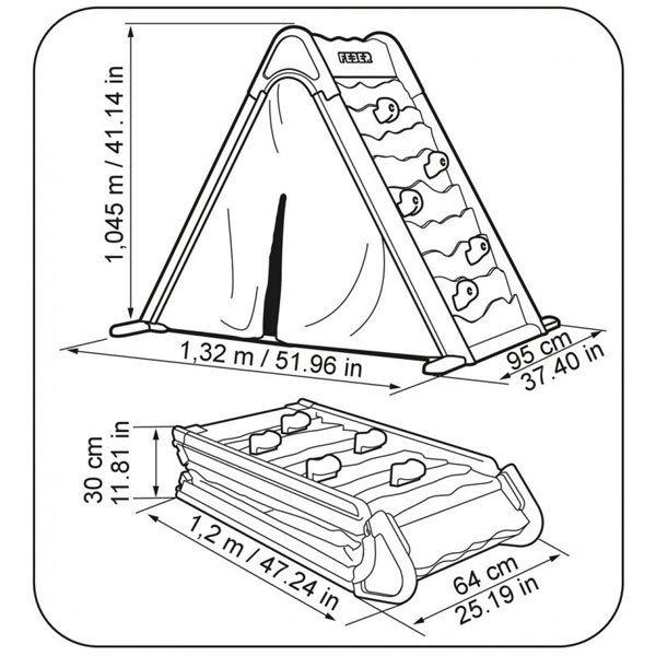 FEBER Namiot Domek Aktywności  Skałka Tablica  3w1