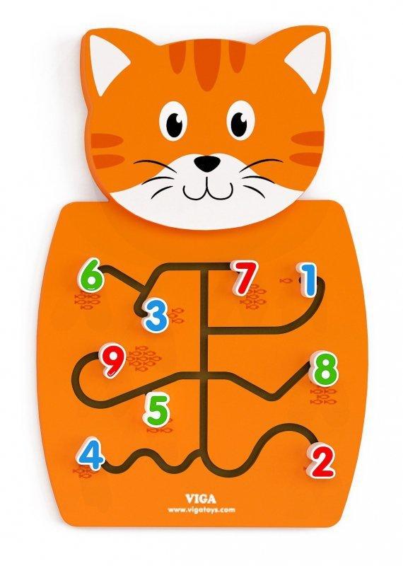 Viga 50676 Sensoryczna tablica manipulacyjna - kotek