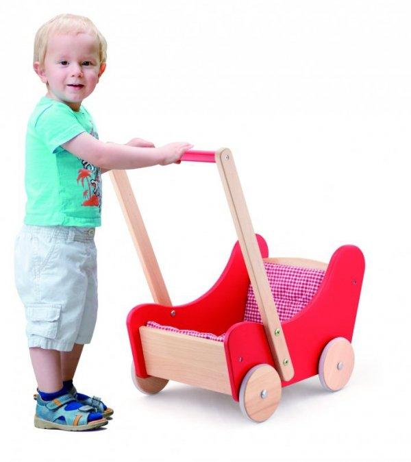 """Viga 59215 2w1 Chodzik i wózeczek dla lalek """"red"""""""