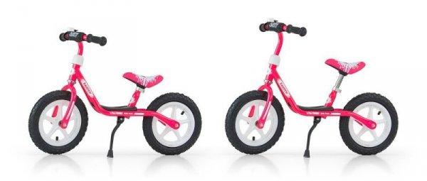 """Rowerek Biegowy Dusty 12"""" Pink-White (51144, Milly Mally)"""