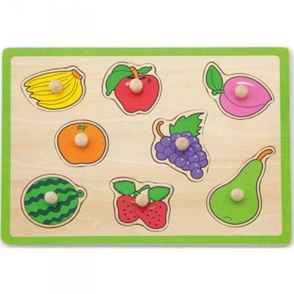 Drewniane Puzzle Owoce Układanka Viga Toys