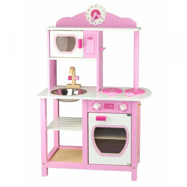 Duża Drewniana Kuchnia Princess Pink zlewozmywak Viga Toys