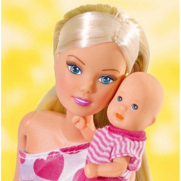 Lalka Steffi Love mama z niemowlakiem Simba