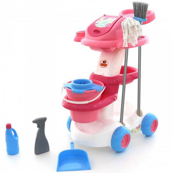 Zestaw wózek do sprzątania Wader z mopem i szczotką