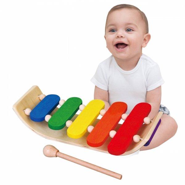 Dzwonki Chromatyczne Kolorowe Drewniane Cymbałki Ksylofon Viga Toys