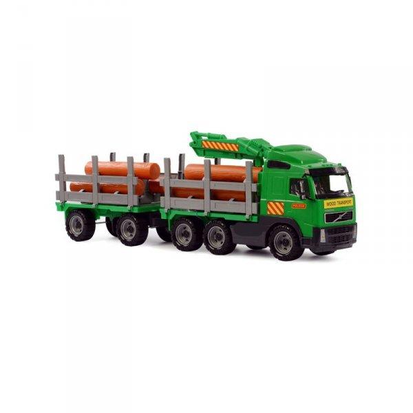 Wader QT Volvo Ogromna Ciężarówka Dźwig z przyczepą do przewozu drewna 75 cm