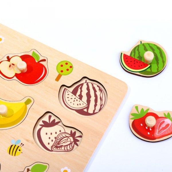 TOOKY TOY Puzzle Układanka Z Pinezkami Owoce