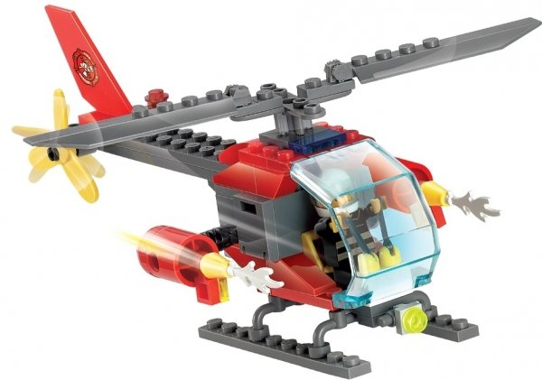 Klocki Blocki MyFireBrigade Helikopter 89 el.