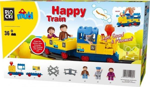 Klocki Blocki Mubi Happy Train 36el.