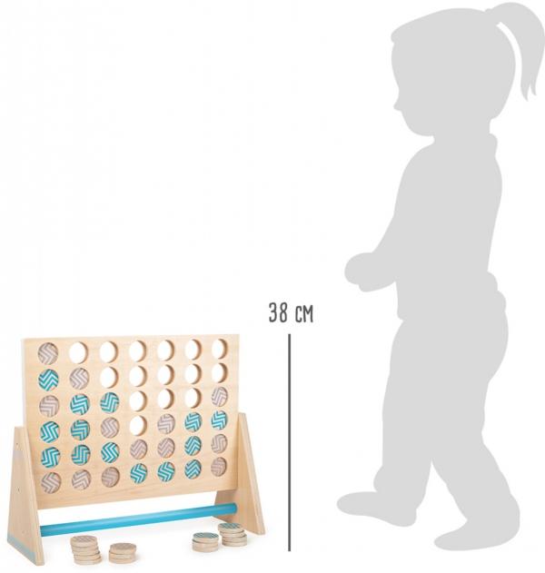 """SMALL FOOT Four in a Row XXL """"Active"""" - drewniana gra """"cztery w rzędzie"""" XXL"""