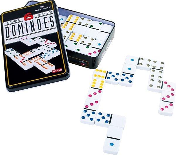SMALL FOOT gra Domino Sześciokolorowe