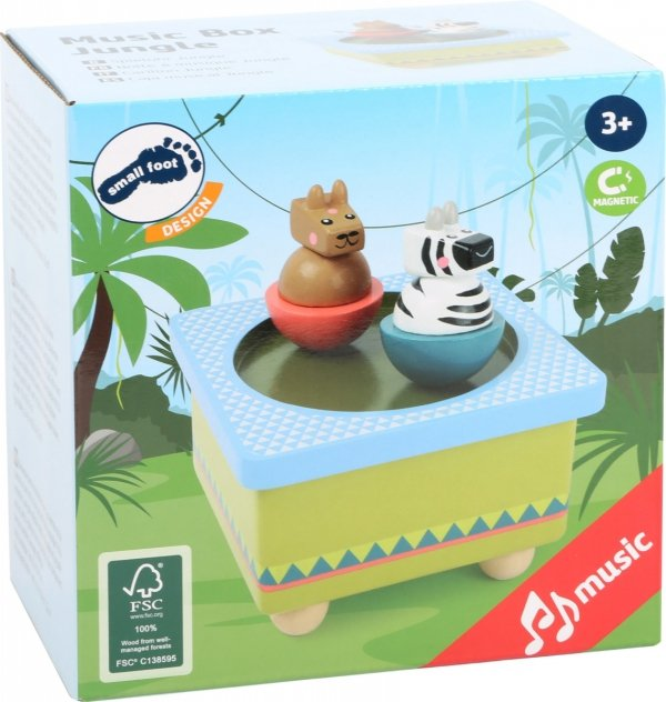 """SMALL FOOT Music Box """"Jungle"""" - pozytywka z tańczącymi zwięrzątkami (dżungla)"""