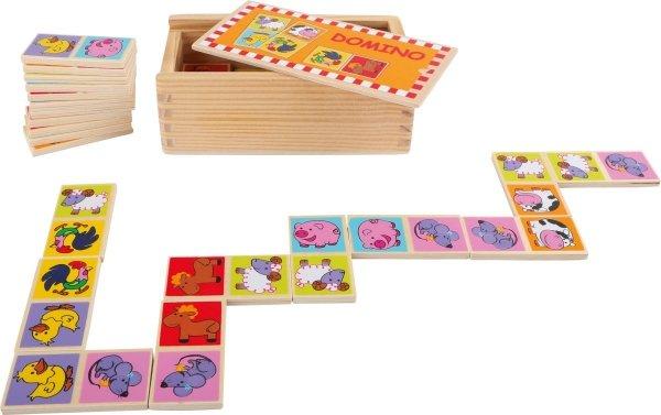 SMALL FOOT gra Domino drewniane (obrazki zwierzęta)