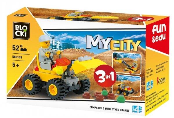 Klocki Blocki MyCity 3w1 - 52 el.