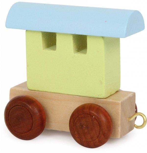 Dekoracja SMALL FOOT kolorowy wagon do lokomotywy