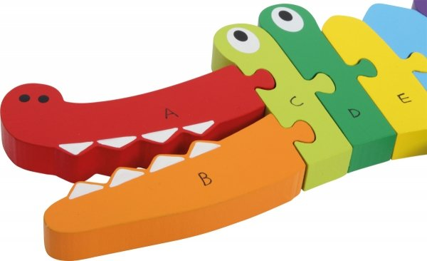 SMALL FOOT Puzzle Drewniane Krokodyl