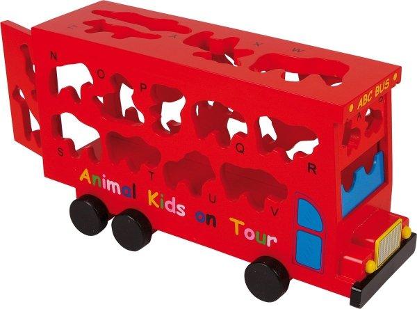 SMALL FOOT - Autobus Układanka dla dzieci - Dopasowanie Klocków