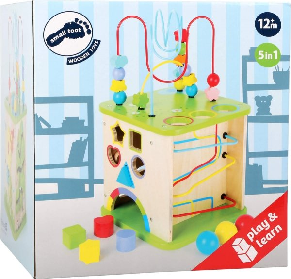 SMALL FOOT Motor Skills World with Marble Run - kostka interaktywna