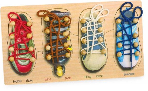 SMALL FOOT Buty do Nauki Wiązania