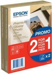 Papier Epson Premium Glossy Photo Paper promo 2 w cenie 1; 10x15; 255g; 2x40 kartek S042167