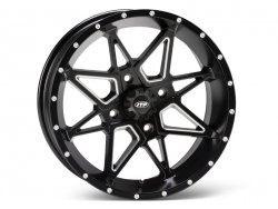 ITP TORNADO 1421951727B 14x7 4/137 5+2 Matte Black with milled